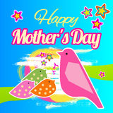 Happy Mother's Day Vector Lettering. Stock Photos