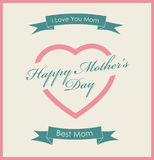Happy Mother's Day vintage poster Stock Images