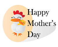 Happy Mother's Day Wallpaper. Happy Mother's Day Cartoon Vector illustration Wallpaper Royalty Free Stock Image