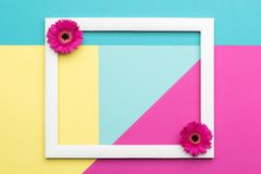 Free Happy Mother`s Day, Women`s Day, Valentine`s Day Or Birthday Pastel Candy Colours Background. Floral Flat Lay Concept. Royalty Free Stock Photography - 113039137