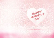 Happy Mother's Day word on paper heart in pink pastel glitter room,Leave space for adding your content,holiday concept Stock Photo