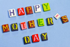 Happy Mother's day words Royalty Free Stock Photos