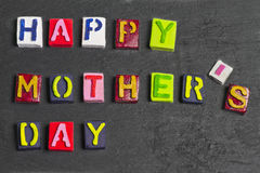 Happy Mother's day words Stock Photography