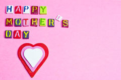 Happy Mother's day words Royalty Free Stock Images