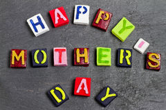 Happy Mother's day words Stock Image
