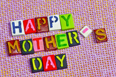 Happy Mother's day words Royalty Free Stock Photo