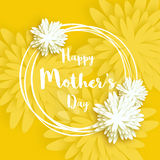 Happy Mother's Day. Yellow Floral Greeting card. International Women's Day. Royalty Free Stock Images