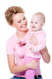 Happy mother with  smile baby Stock Photography