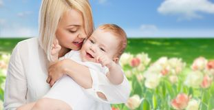 Happy mother with smiling baby Stock Photography