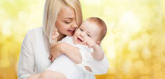 Happy mother with smiling baby Royalty Free Stock Photo