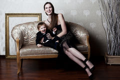 Happy mother & son Royalty Free Stock Photo