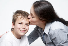 Happy mother and son Stock Photos