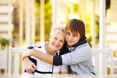 Happy mother and son Stock Photo