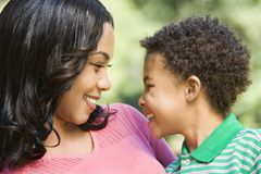 Happy mother and son. Royalty Free Stock Image