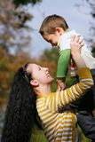 Happy mother and son outdoors Royalty Free Stock Photography