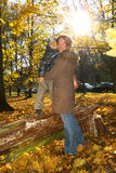 Happy mother and son in the park Royalty Free Stock Photo