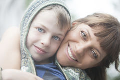 Happy mother and son portrait Stock Photo