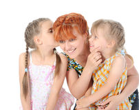 Happy Mother talking with her daughters. Stock Image