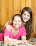 Happy mother with  teen daughter Royalty Free Stock Images