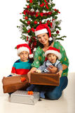 Happy mother with two boys Stock Image