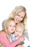 Happy mother with two children Royalty Free Stock Photos