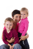 Happy mother and two children Royalty Free Stock Photos