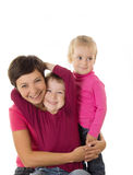 Happy mother and two children Stock Photography