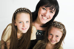 Happy mother with two daughters Royalty Free Stock Images