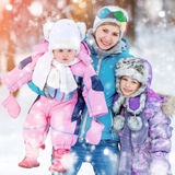 Happy mother and two daughters Stock Images
