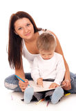 Happy Mother With A Child Stock Image