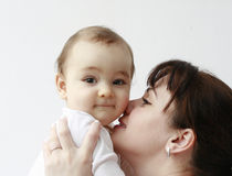 Free Happy Mother With Her Happy Baby In Her Arms Stock Photo - 18948650