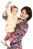Happy Mother With Little Daughter Royalty Free Stock Photography
