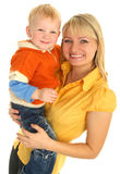 Happy Mother With Little Son Royalty Free Stock Photo