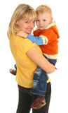 Happy Mother With Little Son Stock Photography
