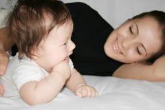 Happy Motherhood Stock Photo