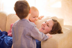Happy Motherhood Stock Image