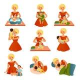 Happy Motherhood Collection Royalty Free Stock Photo