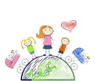 The happy motherhood Royalty Free Stock Photos