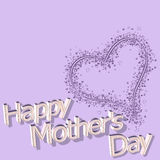 Happy mothers day 14th March. Happy mothers day in 3d text with decoration - 14th march Stock Images