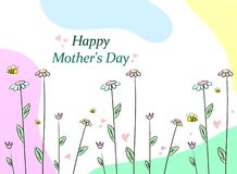 Happy Mothers Day. Illustration with flowers vector illustration