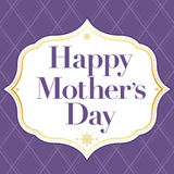 Happy Mothers Day. A classy purple and gold frame and background with the text Happy Mother's Day vector illustration