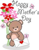 Happy mothers day. A digital card with happy mothers greeting Stock Image