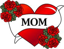 Happy mothers day. A digital happy mothers day card Stock Images
