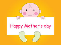Happy Mothers Day - Baby Stock Photography
