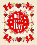 Happy Mothers Day background vector illustration
