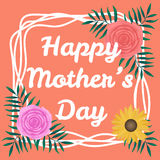 Happy Mothers Day background with beautiful colorful flower. Stock Photos