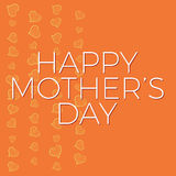 Happy Mothers Day Background and card template with hand drawn hearts Stock Photography