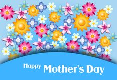 Happy mothers day background Stock Image