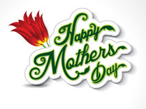 Happy mothers day background with flower Stock Photos