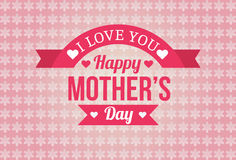 Happy Mothers Day Badge Design Stock Photo